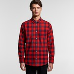 AS Colour Mens Plaid Flannel Shirt