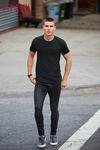 Anvil Black 790 Crew Neck Tee