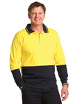 SW36 Cotton Jersey two tone Long Sleeve Safety Polo