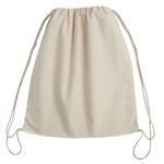 Drawstring Calico Bag 370mm w  x 420mm h
