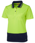 Ladies Hi Vis Non Cuff Traditional Polo