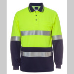 JB's Hi Vis Long Sleeve (D+N) Traffic Traditional Polo