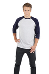 Mens 3/4 Sleeve Raglan Tee
