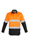 Syzmik Men's Hi Vis Spliced Industrial Shirt - Hoop Taped