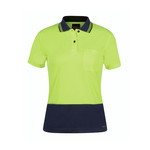 Hi Vis Ladies Jacquard Cooldry Polo