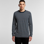 Mens Match Longsleeve Stripe Tee